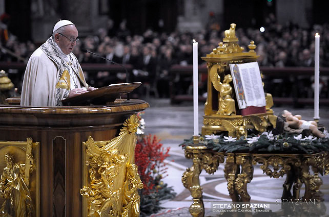 Pope Francis Vespers and Te Deum prayers in Saint Peter's Basilica at the Vatican. on December 31, 2016