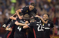 Washington, DC - September 23, 2017: D.C. United defeated the San Jose Earthquakes 4-0 during a Major League Soccer (MLS) match at RFK Stadium.