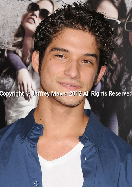 HOLLYWOOD, CA - SEPTEMBER 24: Tyler Posey attends the 'Pitch Perfect' - Los Angeles Premiere at ArcLight Hollywood on September 24, 2012 in Hollywood, California.