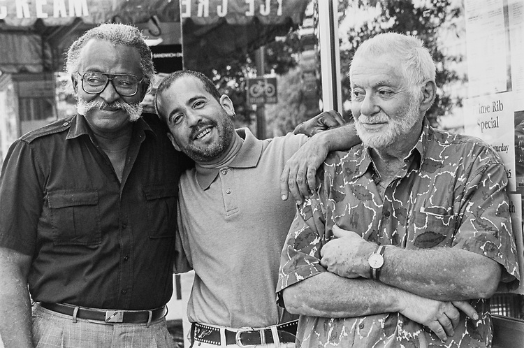 Chef Joseph Ross, Howard Suferr and Mr. Henry Yaffe in September 1992. (Photo by Maureen Keating/CQ Roll Call via Getty Images)