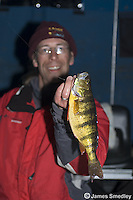 Icefishing winter perch