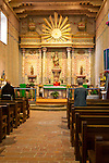 Mission San Miguel, San Miguel, California. Daily noon mass held in the historic mission church