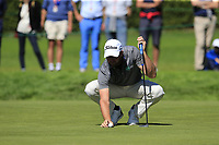 Scott Jamieson (SCO) on the 8th green during Saturday's Round 3 of the 2018 Omega European Masters, held at the Golf Club Crans-Sur-Sierre, Crans Montana, Switzerland. 8th September 2018.<br /> Picture: Eoin Clarke | Golffile<br /> <br /> <br /> All photos usage must carry mandatory copyright credit (&copy; Golffile | Eoin Clarke)