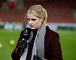 Amazon TV sports presenter Catherine Whittaker during the Premier League match at Bramall Lane, Sheffield. Picture date: 5th December 2019. Picture credit should read: Simon Bellis/Sportimage