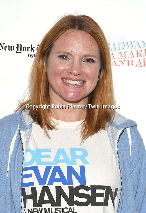 Jennifer Laura Thompson attends the Broadway Cares/Equity Fights Aids Flea Market and Grand Auction on September 25, 2016 at the Music Box Theatre and in Shubert Ally in New York, New York, USA. <br /> <br /> photo by Robin Platzer/Twin Images<br />  <br /> phone number 212-935-0770