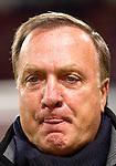 Nederland, Amsterdam, 4 oktober  2012.Seizoen 2012-2013.EuropaLeague.PSV-Napoli.Dick Advocaat, trainer-coach van PSV steekt zijn tong uit