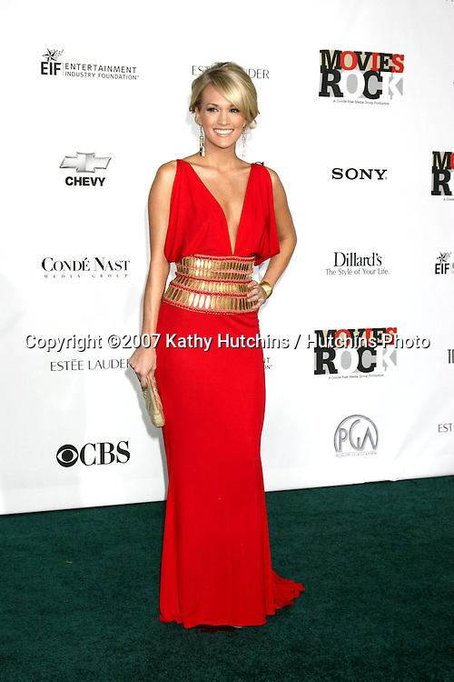 "Carrie Underwood.""Movies Rock"" Arrivals 2007.Kodak Theater.Los Angeels,  CA.December 2, 2007.©2007 Kathy Hutchins / Hutchins Photo..."