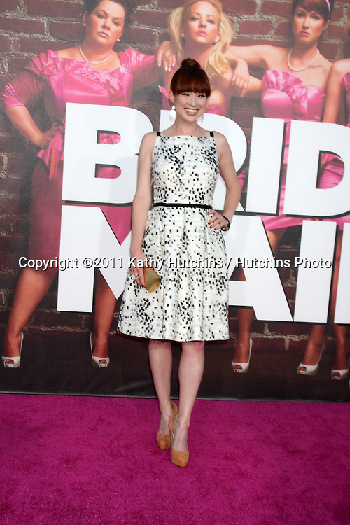 """LOS ANGELES - APR 27:  Ellie Kemper arriving at the """"Bridesmaids"""" Premiere at Village Theater on April 27, 2011 in Westwood, CA.."""