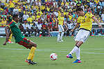 Guihoata of Camerun and Miguel Borja of Colombia during the friendly match between Camerun and Colombia in Madrid, Spain 13 jun 2017.(ALTERPHOTOS/Rodrigo Jimenez)