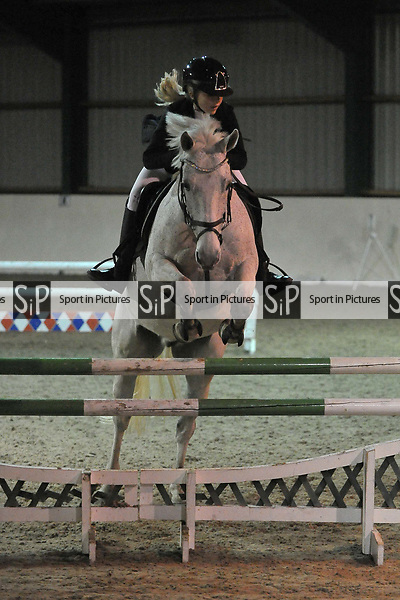 Class 9. 95cm. New year unaffiliated showjumping. Brook Farm Training Centre. Stapleford Abbotts. UK. 06/01/2018. ~ MANDATORY CREDIT Garry Bowden/Sport in Pictures - NO UNAUTHORISED USE - +44 7837 394578