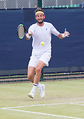 June 13th 2017, Nottingham, England; ATP Aegon Nottingham Open Tennis Tournament day 4;  Luca Vanni of Italy who was defeated by John-Patrick Smith of Australia in three sets