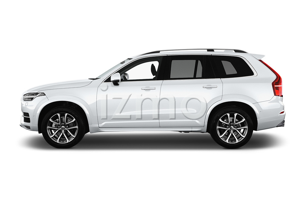 Car Driver side profile view of a 2017 Volvo XC90 Momentum 5 Door SUV Side View