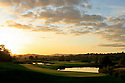 An autumn evening view of the 14th Green on the Twenty Ten Course, The Celtic Manor Resort, Newport, Wales...