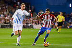 Atletico de Madrid's player Yannick Carrasco and Malaga CF Mikel Villanueva Alvarez during a match of La Liga Santander at Vicente Calderon Stadium in Madrid. October 29, Spain. 2016. (ALTERPHOTOS/BorjaB.Hojas)