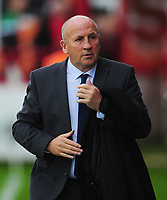Accrington Stanley manager John Coleman <br /> <br /> Photographer Kevin Barnes/CameraSport<br /> <br /> The Carabao Cup - Accrington Stanley v Preston North End - Tuesday 8th August 2017 - Crown Ground - Accrington<br />  <br /> World Copyright &copy; 2017 CameraSport. All rights reserved. 43 Linden Ave. Countesthorpe. Leicester. England. LE8 5PG - Tel: +44 (0) 116 277 4147 - admin@camerasport.com - www.camerasport.com