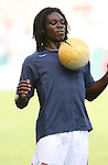29 January 2006: Ugo Ihemelu, of the United States, during pregame warmups. The United States Men's National Team defeated their counterparts from Norway 5-0 at the Home Depot Center in Carson, California in a men's international friendly soccer game.
