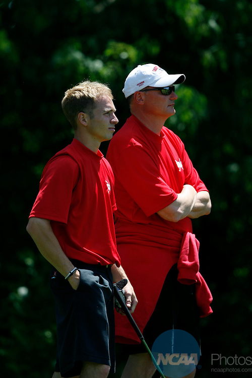 18 MAY 2007: The Division III Men's Golf Championship held at Hawthorns Golf and Country Club and Prairie View Golf Club in Fishers and Carmel, IN. Joe Robbins/NCAA Photos
