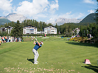 Joost Luiten (NED) in action on the 8th hole during third round at the Omega European Masters, Golf Club Crans-sur-Sierre, Crans-Montana, Valais, Switzerland. 31/08/19.<br /> Picture Stefano DiMaria / Golffile.ie<br /> <br /> All photo usage must carry mandatory copyright credit (© Golffile | Stefano DiMaria)