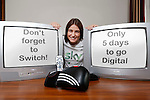 Sky's Digital Switchover..Sky's Digital Switchover ambassador Katie Taylor pictured announcing the switchover.