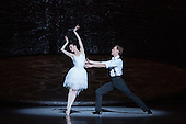 London, UK. 13 July 2016. Amber Scott as Odette and Adam Bull as Prince Siegfried. The Australian Ballet perform Swan Lake - one prince torn between two loves - during a dress rehearsal at the London Coliseum. Performances run from 14 to 16 July 2016. With Amber Scott as Odette, Adam Bull as Prince Siegfried and Dimity Azoury as Baroness von Rothbart. Choreography by Graeme Murphy, Artistic Direction by David McAllister to music by .
