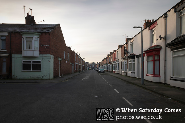 St Aiden's Street, Middlesbrough, site of the Linthorpe Road Ground, home to Middlesbrough FC from 1892-1903.