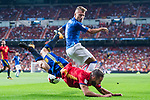 Daniel Carvajal (front) of Spain fights for the ball with Ciro Immobile (back) of Italy during their 2018 FIFA World Cup Russia Final Qualification Round 1 Group G match between Spain and Italy on 02 September 2017, at Santiago Bernabeu Stadium, in Madrid, Spain. Photo by Diego Gonzalez / Power Sport Images