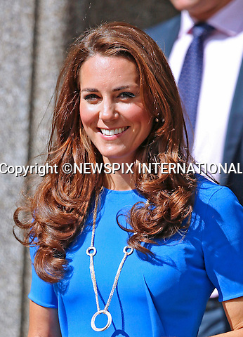 """CATHERINE, DUCHESS OF CAMBRIDGE.visits the National Portrait Gallery's Road to 2012: Aiming High Exhibition, London_19/07/2012.Mandatory Credit Photo: ©Butler/NEWSPIX INTERNATIONAL..**ALL FEES PAYABLE TO: """"NEWSPIX INTERNATIONAL""""**..IMMEDIATE CONFIRMATION OF USAGE REQUIRED:.Newspix International, 31 Chinnery Hill, Bishop's Stortford, ENGLAND CM23 3PS.Tel:+441279 324672  ; Fax: +441279656877.Mobile:  07775681153.e-mail: info@newspixinternational.co.uk"""