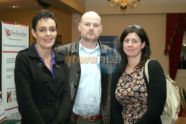 Maureen Ward, Louth Leader Partnership with Ian and Ursula Campbell at the  Louth County Enterprise Lunch in The Boyne Valley Hotel...Photo NEWSFILE/Jenny Matthews.(Photo credit should read Jenny Matthews/NEWSFILE)....This Picture has been sent you under the condtions enclosed by:.Newsfile Ltd..The Studio,.Millmount Abbey,.Drogheda,.Co Meath..Ireland..Tel: +353(0)41-9871240.Fax: +353(0)41-9871260.GSM: +353(0)86-2500958.email: pictures@newsfile.ie.www.newsfile.ie.FTP: 193.120.102.198.
