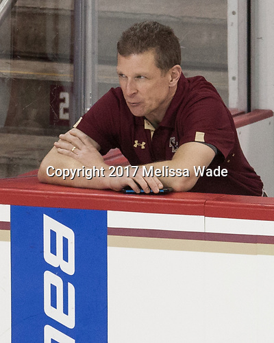 Bert Lenz (BC - Director-Sports Medicine) - The visiting University of Vermont Catamounts tied the Boston College Eagles 2-2 on Saturday, February 18, 2017, Boston College's senior night at Kelley Rink in Conte Forum in Chestnut Hill, Massachusetts.Vermont and BC tied 2-2 on Saturday, February 18, 2017, Boston College's senior night at Kelley Rink in Conte Forum in Chestnut Hill, Massachusetts.