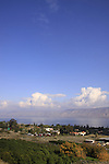 Israel, Lower Galilee, a view of the Sea of Galilee from Mount Poriya