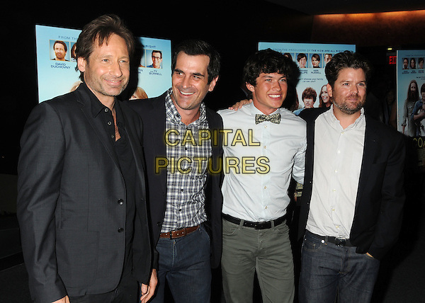 "David Duchovny, Ty Burrell, Graham Phillips, Christopher Neil.""Goats"" Los Angeles Premiere held at the Landmark Theatre, Westwood, California, USA. .August 8th, 2012.half length shirt grey gray suit jacket black white beard facial hair .CAP/ADM/BP.©Byron Purvis/AdMedia/Capital Pictures."