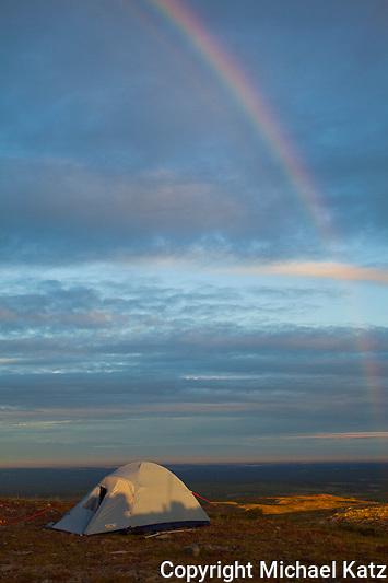 Rainbow,Peters Hills, near Denali