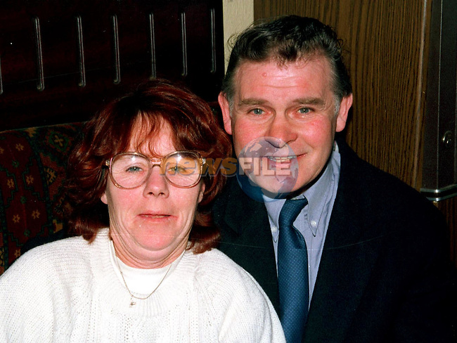 Frank and Brenda Smith at the fundraising night in the Railway Bar, Ardee for groups who assisted at the Dunany drowning tragedy..Picture Ciara Wilkinson Newsfile