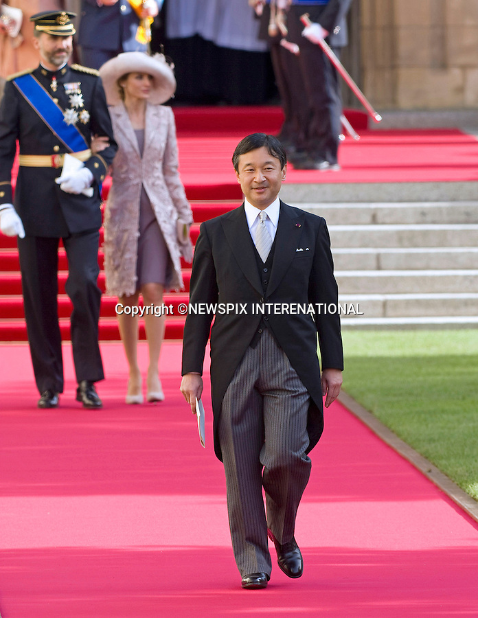 "PRINCE NARUHITO OF JAPAN.Religious Wedding Ceremony of HRH the Hereditary Grand Duke and Countess Stéphanie de Lannoy at Cathedral of Our lady of Luxembourg, Luxembourg_20-10-2012.Mandatory credit photo: ©Dias/NEWSPIX INTERNATIONAL..(Failure to credit will incur a surcharge of 100% of reproduction fees)..                **ALL FEES PAYABLE TO: ""NEWSPIX INTERNATIONAL""**..IMMEDIATE CONFIRMATION OF USAGE REQUIRED:.Newspix International, 31 Chinnery Hill, Bishop's Stortford, ENGLAND CM23 3PS.Tel:+441279 324672  ; Fax: +441279656877.Mobile:  07775681153.e-mail: info@newspixinternational.co.uk"