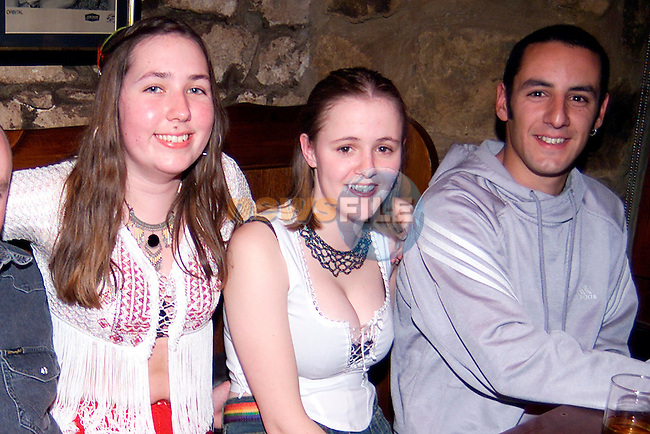 Christina Wilson, Niamh Gregory and Damien Carolan enjoying a night out in Crusoes..Picture: Paul Mohan/Newsfile