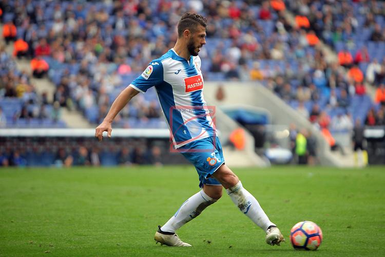 League Santander 2016/2017. Game: 9.<br /> RCD Espanyol vs SD Eibar: 3-3.<br /> Martin Demichelis.