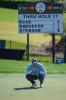 Henrik Stenson (SWE) lines up his putt on 18 during round 1 of the Arnold Palmer Invitational at Bay Hill Golf Club, Bay Hill, Florida. 3/7/2019.<br /> Picture: Golffile | Ken Murray<br /> <br /> <br /> All photo usage must carry mandatory copyright credit (© Golffile | Ken Murray)