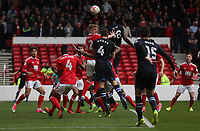 Blackburn Rovers' Tommie Hoban scores his sides first and winning goal<br /> <br /> Photographer Rachel Holborn/CameraSport<br /> <br /> The EFL Sky Bet Championship - Nottingham Forest v Blackburn Rovers - Friday 14th April 2016 - The City Ground - Nottingham<br /> <br /> World Copyright &copy; 2017 CameraSport. All rights reserved. 43 Linden Ave. Countesthorpe. Leicester. England. LE8 5PG - Tel: +44 (0) 116 277 4147 - admin@camerasport.com - www.camerasport.com