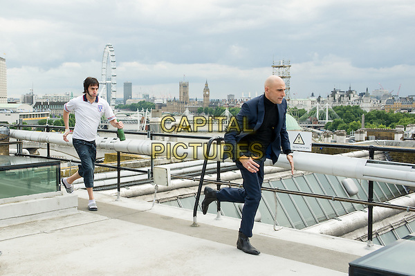 The Brothers Grimsby (2016)<br /> (Grimsby)  <br /> Sacha Baron Cohen, Mark Strong<br /> *Filmstill - Editorial Use Only*<br /> CAP/KFS<br /> Image supplied by Capital Pictures