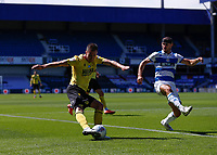 18th July 2020; The Kiyan Prince Foundation Stadium, London, England; English Championship Football, Queen Park Rangers versus Millwall; Jed Wallace of Millwall crossing the ball past Marc Pugh of Queens Park Rangers