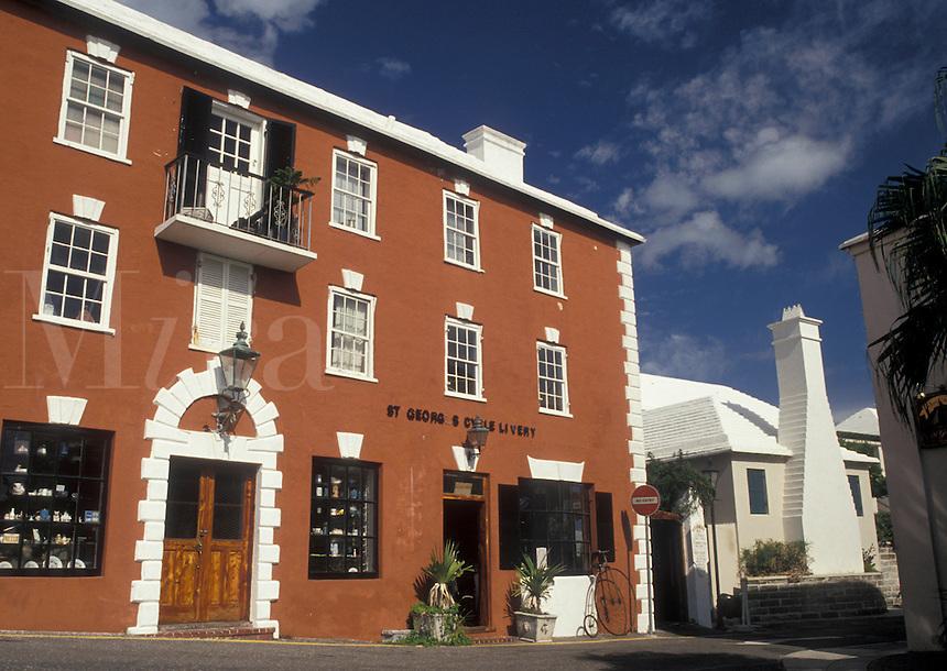 Bermuda, St. George's Parish, St. George's Cycle Livery in St George in Bermuda.