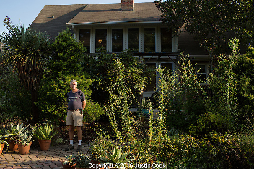 Horticulturalist and Plantsman Tony Avent at Plant Delights Nursery and Juniper Level Botanic Garden in Raleigh, NC on Friday, August 26, 2016. (Justin Cook)