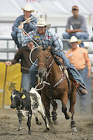 26 Aug 2010:  Jim Ross Cooper scored a time of 21.1 in the slack Tie Down Roping competition at the Kitsap County Stampede Wrangle Million Dollar PRCA Silver Rodeo Tour Bremerton, Washington.