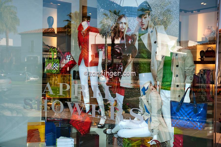 Palm Desert;  El Paseo, Boutiques; .Mannequins; Palm Springs; Palm Trees; famous; retailers;  fashion; haute couture; shopping; CA; California; Coachella Valley; Desert;