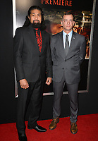 Tausolo Aeiti &amp; Adam Schumann at the premiere for &quot;Thank You For Your Service&quot; at the Regal LA Live Theatre. Los Angeles, USA 23 October  2017<br /> Picture: Paul Smith/Featureflash/SilverHub 0208 004 5359 sales@silverhubmedia.com