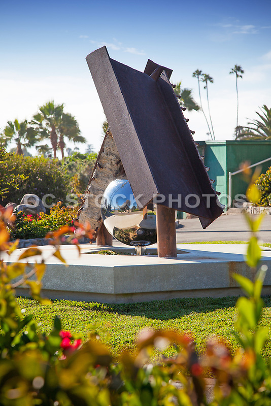 Semper Memento 9/11 Memorial Sculpture at Heisler Park in Laguna Beach California
