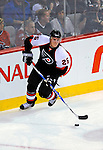 15 November 2008:  Philadelphia Flyers' defenseman Matt Carle leads a rush against the Montreal Canadiens in their first meeting in Montreal since the Flyers knocked the Canadiens out of the playoffs last season. The Canadiens, celebrating their 100th season, fell to the visiting Flyers 2-1 at the Bell Centre in Montreal, Quebec, Canada. ***Editorial Sales Only***..Mandatory Photo Credit: Ed Wolfstein Photo *** Editorial Sales through Icon Sports Media *** www.iconsportsmedia.com