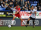 9th September 2017, Macron Stadium, Bolton, England; EFL Championship football, Bolton Wanderers versus Middlesbrough; Dael Fry of Middlesbrough goes past Darren Pratley of Bolton