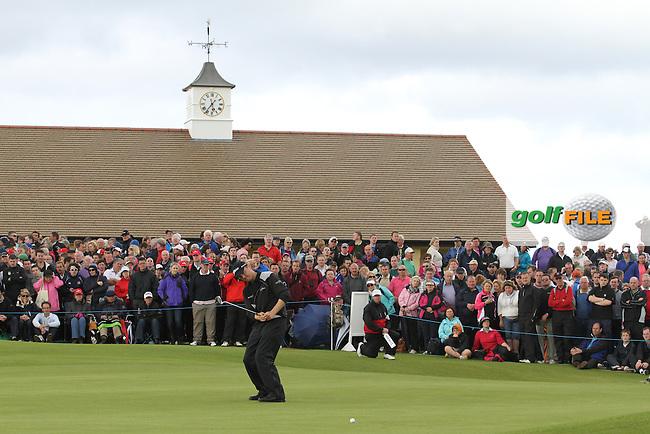 Michael Hoey (NIR) on the 18th on Day 2 of the 2012 Irish Open at Royal Portrush Golf Club, Portrush, Co.Antrim, 29/6/12...(Photo Jenny Matthews/www.golffile.ie)