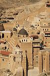 Judean Desert, Greek Orthodox Monastery Mar Saba on the slope of Wadi Kidron